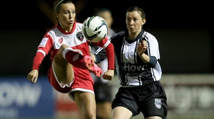 Raheny's Clare Conlon (r) and Natasha Harding of Bristol Academy