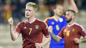 Kevin de Bruyne has 33 caps for Belgium