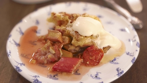 Strawberry and Rhubarb Cobbler: Rachel Allen