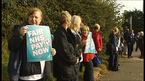 The strike is the first such strike by NHS staff over pay in more than 30 years