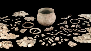 A variety of artefacts from the British Museum's collection of Viking treasure
