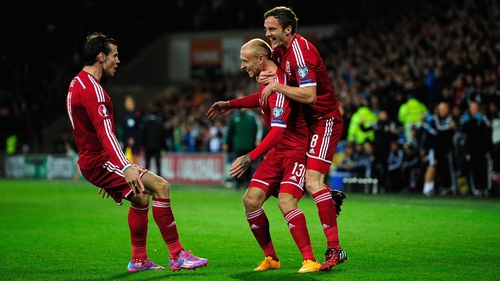 David Cotterill (c) fired the Welsh ahead