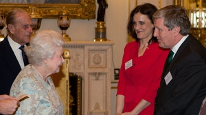 Irish Ambassador Dan Mulhall meeting the Queen in London earlier this year