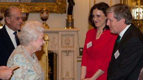 Irish Ambassador Dan Mulhall meeting the Queen in London earlier this year