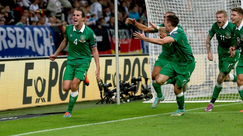 John O'Shea scored Ireland's equaliser against Germany in the EURO 2016 qualifier