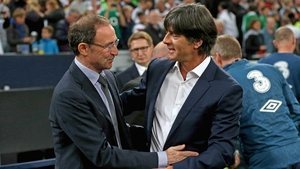 Martin O'Neill and Germany manager Joachim Loew before the game