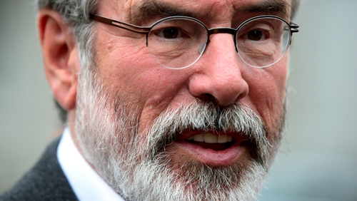 Gerry Adams said the Taoiseach's focus is not on trying to resolve this issue and he is being opportunistic