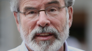 Gerry Adams has apologised for the language he used