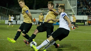 Dane Massey has helped put Dundalk in pole position to win the Premier Division