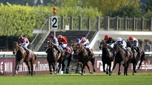 Charm Spirit (rail) recorded a first Group One win in last month's Prix du Moulin at Longchamp