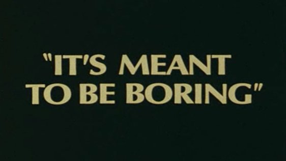 It's Meant To Be Boring