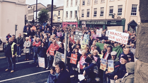 Water protests took place in Clonmel (Pic: Paddy Healy)