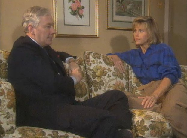 Gay Byrne and Jane Fonda