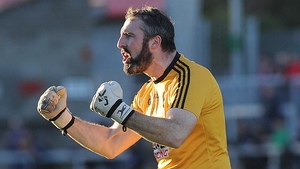 Paul Hearty, seen here in last year's final, said Crossmaglen had coped well with the absence of players
