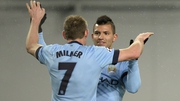 James Milner and Sergio Aguero were both on target in the first half