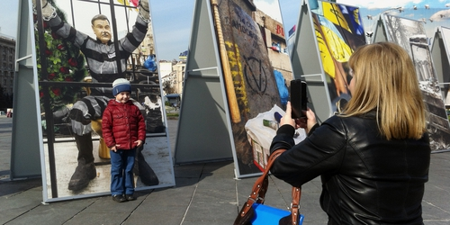 Posters in Maidan Square