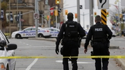 Police officers on duty on the streets of Ottawa