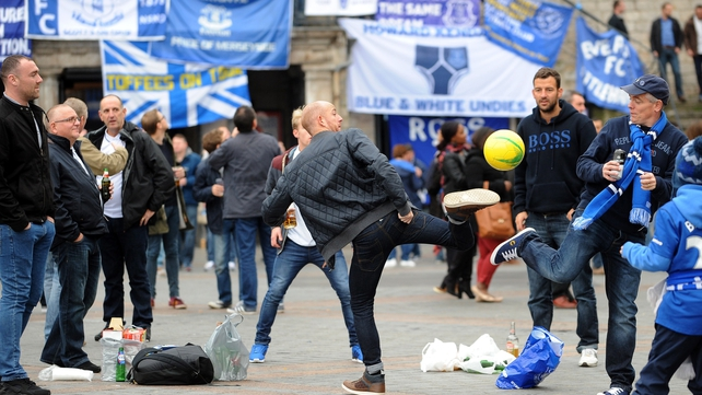 Everton fans attacked ahead of Lille tie