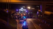 The crash happened beyond junction 13 of the M7 last night