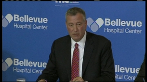 New York Mayor Bill de Blasio confirmed that a patient in the city had tested positive for Ebola