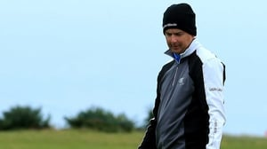 Peter Lawrie was eight over par after two rounds