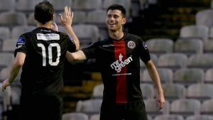 Dinny Corcoran drew Bohs level in the first half