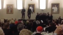 The priests took part in their dance-off in Rome