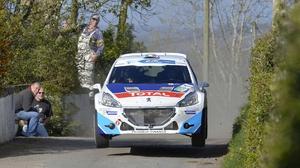 Craig Breen is in action in Corsica next