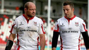 Ulster's Rory Best and Ian Humphreys dejected after the game