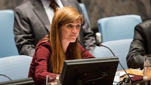 Samantha Power served as US ambassador to the UN under Barack Obama