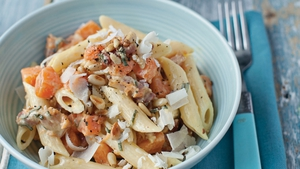 Penne with Pumpkin, Crispy Pancetta, Sage and Parm