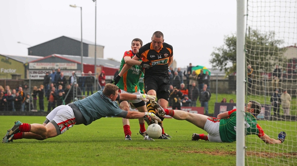 Kieran Donaghy finds the net for Austin Stacks