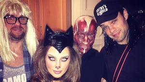 Eoghan McDermott, Roz Purcell, Bressie and pal party early for Halloween. Pictures courtesy of Roz Purcell, Instagram