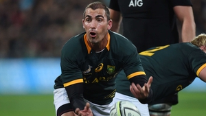 Ruan Pienaar injured his knee in the Rugby Championship game against New Zealand