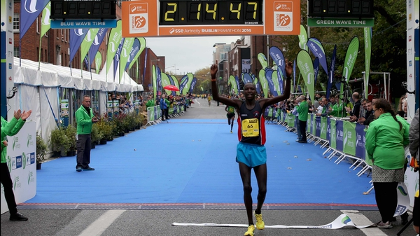 Eliud Too will be looking to retain the Dublin Marathon men's title in 2015