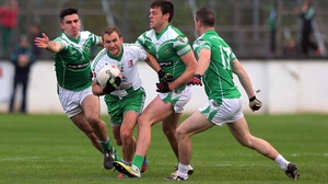 Michael Browne of Sarsfields surrounded by the Moorefield defence