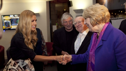 Katherine Jenkins also read at the event