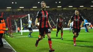 Eunan O'Kane started for Bournemouth at Anfield on Monday night
