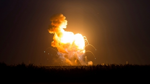 The 14-storey rocket exploded seconds after it was launched