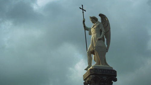 One Million Dubliners is a fascinating meditation on Glasnevin cemetery. Picture shows the Archangel atop the Meade family monument