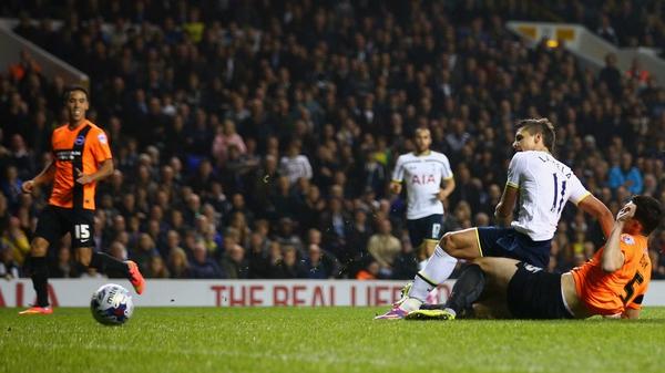 Erik Lamela scores Tottenham's first goal at White Hart Lane