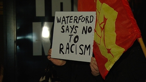An anti-racism rally took place in Waterford last night in reaction to the protests