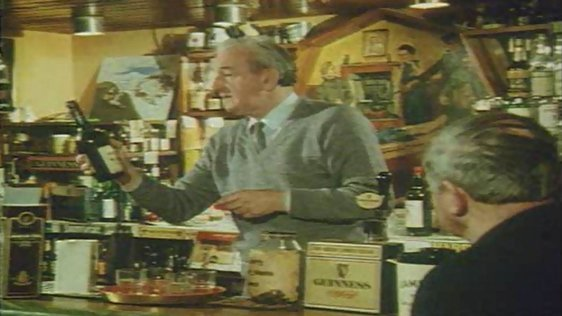 John B. Keane in his pub