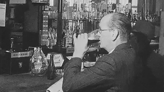 Man Drinking in Pub (1969)