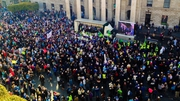 A national demonstration took place outside the GPO in Dublin at the beginning of the month