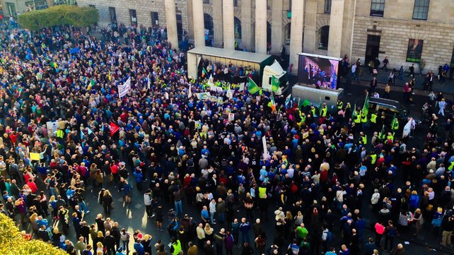 A national demonstration against water charges took place outside the GPO in Dublin earlier this month