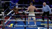 Quigley knocked out McCoy in the first round. Twitter pic: @FoxSportsLive