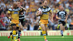 Liam Finn (R) in action for Castleford Tigers