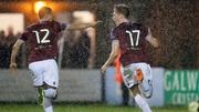 Gary Shanahan celebrates Galway's opening goal
