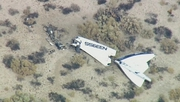 The Virgin Galactic spacecraft crashed in the Mojave Desert